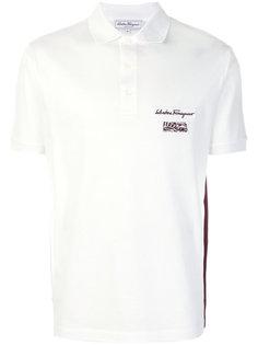 футболка-поло с вышитым логотипом  Salvatore Ferragamo
