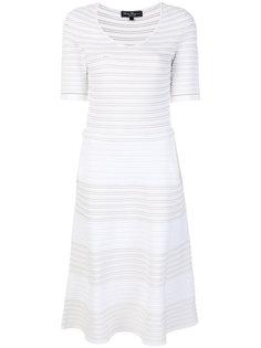 трикотажное полосатое платье  Salvatore Ferragamo