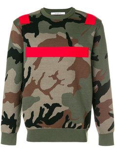 свитер с камуфляжным принтом  Givenchy