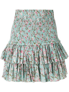 юбка Naomi с рюшами и цветочным принтом  Isabel Marant Étoile