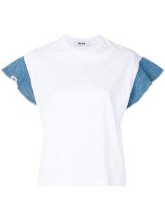 футболка с рукавами с оборками MSGM
