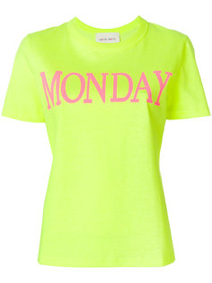 футболка с принтом Monday  Alberta Ferretti