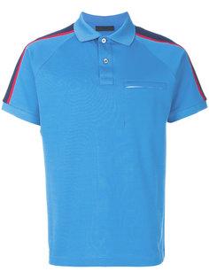 футболка-поло с контрастными полосками Prada