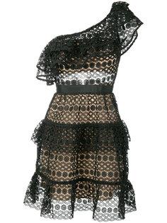 кружевное платье на одно плечо  Self-Portrait