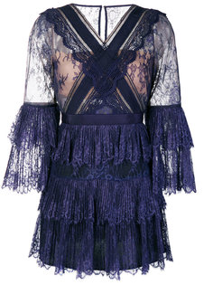 кружевное платье с рюшами Self-Portrait