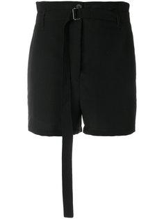 шорты с высокой талией с ремнем Ann Demeulemeester