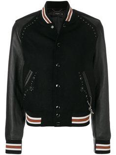 университетская куртка с заклепками Coach