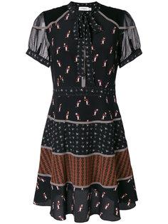 платье с завязками на горловине Coach