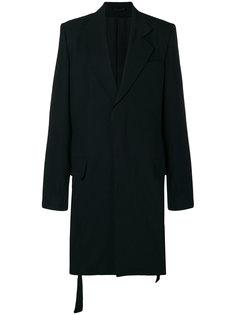 однобортное пальто Ann Demeulemeester Blanche