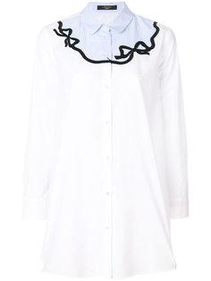 расклешенная рубашка с вышивкой Weekend By Max Mara