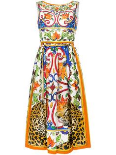 расклешенное платье миди Dolce & Gabbana