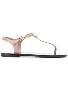 сандалии с ремешком через палец Dolce & Gabbana