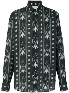 рубашка с абстрактным узором Saint Laurent