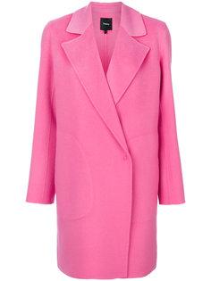 пальто пиджачного кроя Theory