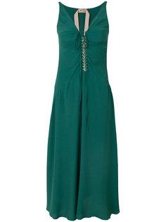 декорированное платье с приспущенной талией Nº21