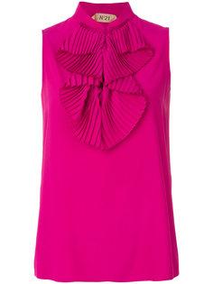 блузка с оборками без рукавов Nº21