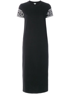 платье-футболка с принтом -логотипом  Kenzo