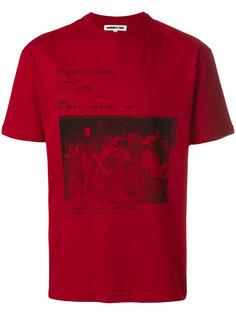 футболка с принтом и приспущенными плечами McQ Alexander McQueen