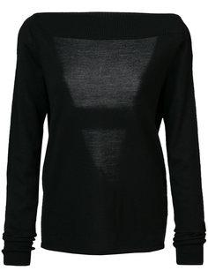 свитер с глубоким V-образным вырезом на спине Dion Lee