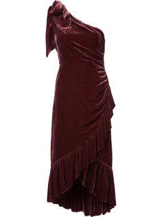 платье на одно плечо со сборками и оборками Ulla Johnson