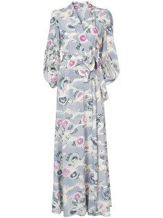 платье макси с запахом и рукавами-кимоно Co