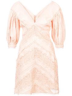 платье мини с панельным дизайном и окантовкой Zimmermann