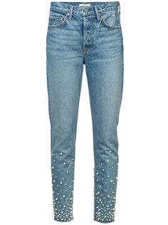 джинсы кроя слим с искусственным жемчугом Grlfrnd