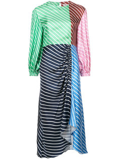 платье в полоску с панельным дизайном Tibi