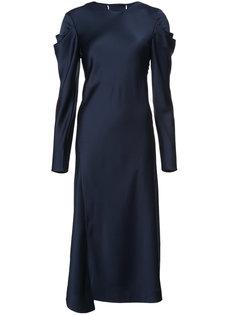 платье с драпировкой на рукавах Tibi