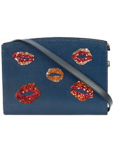 сумка на плечо с деталями в форме губ Lizzie Fortunato Jewels