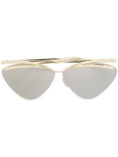 солнцезащитные очки с круглой оправой Le Specs