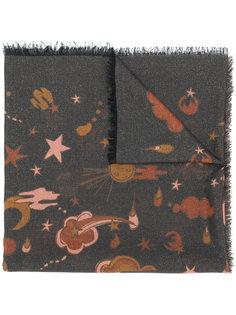 шарф с космическим принтом Coach