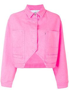 укороченная джинсовая куртка  MSGM