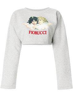 укороченная толстовка с логотипом Fiorucci