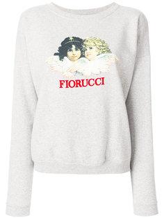 толстовка с принтом-логотипом  Fiorucci