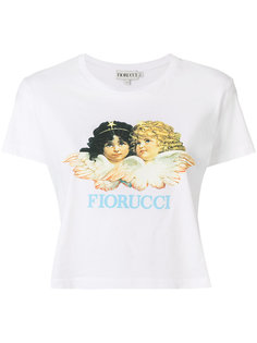укороченная футболка с принтом логотипа Fiorucci