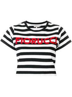 полосатая укорочнная футболка  Fiorucci