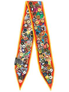 шарф с принтом значков Dsquared2