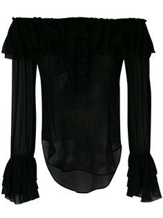 блузка с рюшами и приспущенными плечами Twin-Set