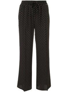 брюки прямого кроя с узором в горох Twin-Set