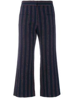 укороченные полосатые брюки  Carven