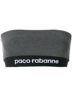 топ-бандо с логотипом  Paco Rabanne