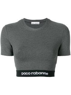 укороченная футболка с принтом логотипа Paco Rabanne