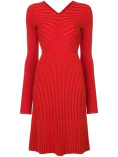 платье с V-образным вырезом с ребристой фактурой Victoria Beckham