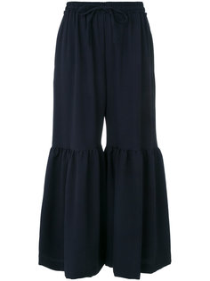 расклешенные укороченные брюки   See By Chloé