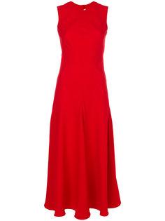 приталенное расклешенное платье Khaite