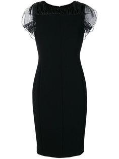 платье с оборочными рукавами Max Mara