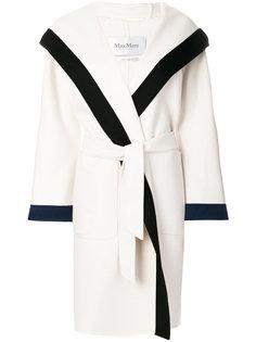трикотажное пальто с поясом Max Mara