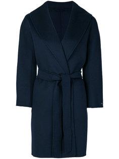 пальто с поясом S Max Mara