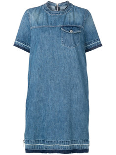 джинсовое платье-футболка Sacai